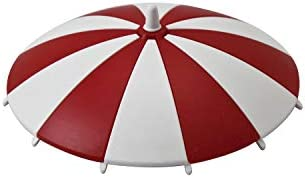 homeXpert 3065170706 Glasabdeckung Trinkglas-Deckel Schirmchen, Ø 11,5 cm (Farbe zufällig), Stück:6 Stück