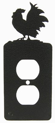 Rooster Outlet Cover - Poultry Chicken Rooster Power Outlet Plate Cover