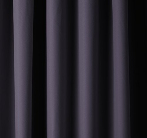 AmazonBasics Room Blackout Window Panel Curtains - Pack of 2, 52 x 84 Inch, Black