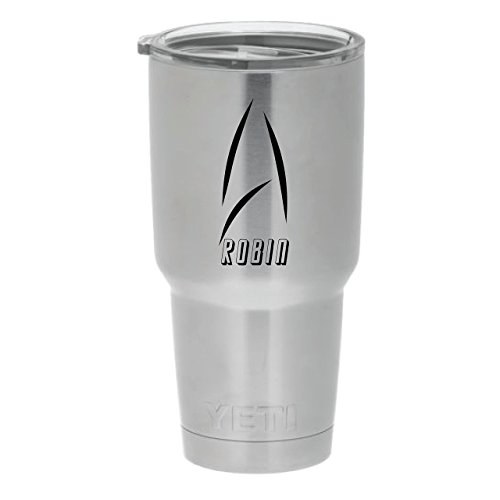 YETI Rambler Engraved - Modern Star Trek Themed Design w/Name. Choose from YETI Water Bottle, Mug, or Colster by DoGood Designs