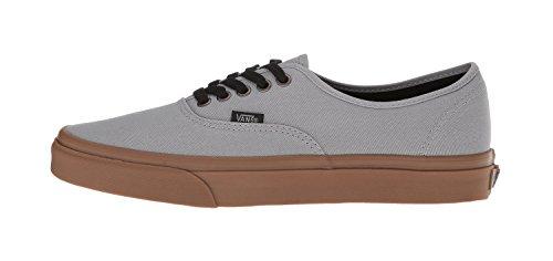 Gum Black (Vans Unisex Authentic (Gum Outsole) Alloy Gray/Black Fashion Sneaker (7 D(M) US Men/8.5 B(M) US Women))