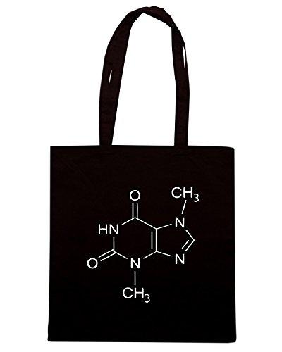 T-Shirtshock - Bolsa para la compra OLDENG00693 theobromine molecule Negro
