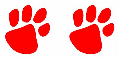 Red Paw Prints Temporary Tattoo (10 Pack)]()