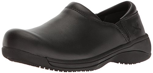 Action Leather Footwear - MOZO Women's Forza Food Service Shoe, Black, 11 B US