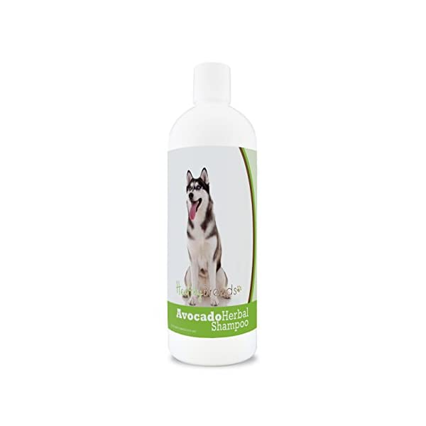 Healthy Breeds Herbal Avocado Shampoo for Dry Itchy Skin - For Dogs with Allergies or Sensitive Skin - Safe with Flea & Tick Topicals - Herbal Scent - 16 oz 1