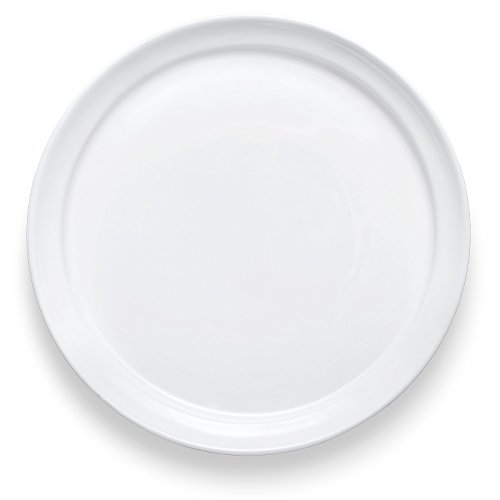 Mid Century Salad (Bon Chef 1500004P Mid Century 8 Inch x 8 Inch x 1.1 Inch Round Salad Dessert Plate, Fine Porcelain Dinnerware, White (Pack of 36))