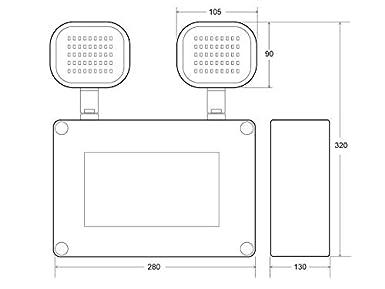 Industrial Blanco fr/ío Luz de emergencia LED KROLUX Estanca IP65