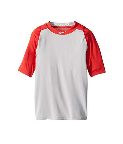 d5df944a Nike Boys' Pro Cool ¾-Sleeve Baseball Shirt (Red/Grey, L)