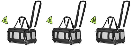 Sherpa on Wheels Pet Carrier, Black (3 Carriers)