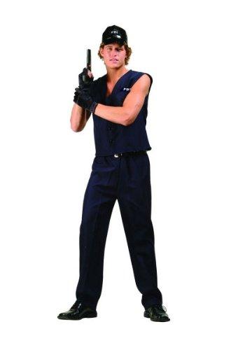 Fbi Agent Fancy Dress (Fbi Agent - Adult Medium (36-38) Costume)