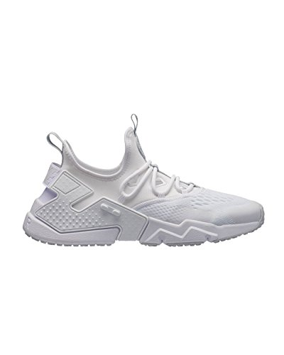 Nike Mens Air Huarache Drift Breathe Textile White Pure Platinum Trainers 10 US (Nike Mens Air Trainer Huarache)