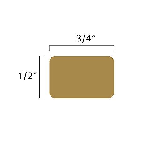 1 2 Quot X 3 4 Quot Tan Square Color Coding Stickers Permanent Adhesive Writable Surface 500 Labels