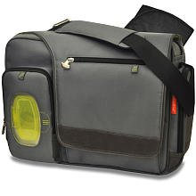 Fastfinder Deluxe Grey Messenger Diaper Bag by Fisher Price