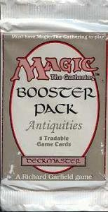 Magic The Gathering Card Game - Antiquities Booster Pack - 8 cards by Magic