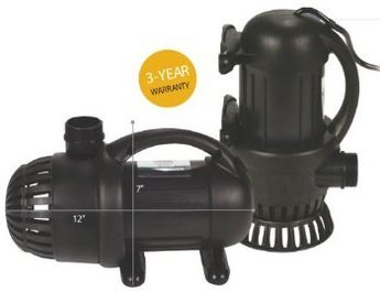 AQUASURGE 5000 GPH POND PUMP G2 with Green Vista Protective Pump Bag ($30 Value), 20 Foot Power Cord and More by Aquascape