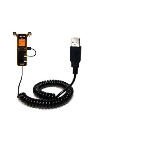 Coiled USB Cable for Tascam DR-08