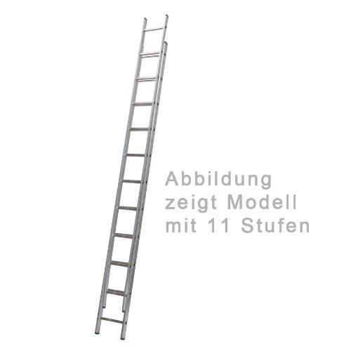 Aluminium Schiebeleiter 2-teilig 2 x 13 Stufen