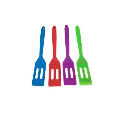 Kitchen Collection Silicone Slotted Mini Turner Assorted Colors 09075 ()