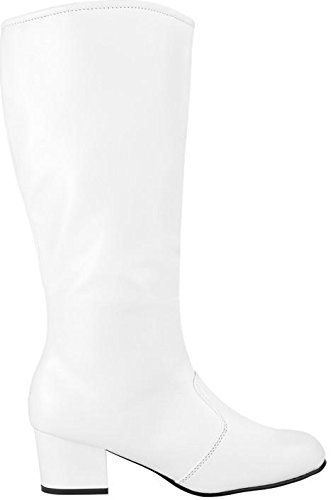 Tia's Dance Wear The Nancy Knee High White Boot by Style Plus - White (9.5, White) - Disco Dance Solo Costumes