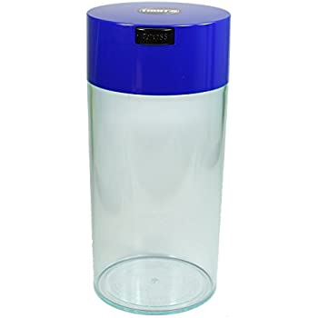 Tightvac - 5oz to 24 Ounce Vacuum Sealed Container - Clear Body/Dk. Blue Cap