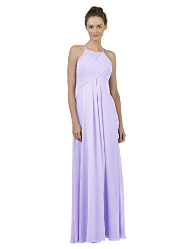 n Bridesmaid Dress Maxi Evening Gown A Line Plus Party Dress, Lilac, US2 ()