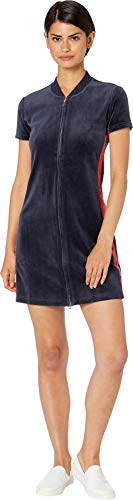 Womens Couture Dress (Juicy Couture Women's Satin and Velour Mix Dress Regal City Rouge Angel Petite/X-Small)
