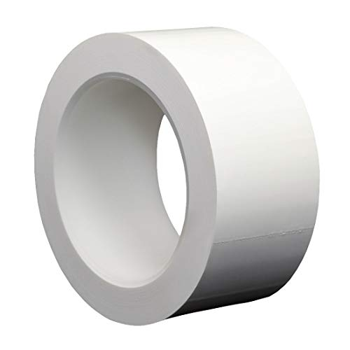 StaticTek PVC Cleanroom Tape | Clean Plastic Core | Strong Synthetic Rubber Adhesive | White |2 Inch X 36 Yard Roll ()