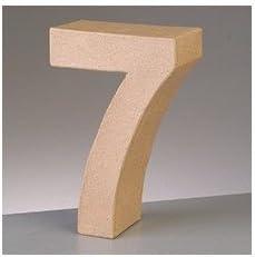 1 1- Zahl efco Buchstaben und Zahlen Pappart H5 x T2cm Zahl