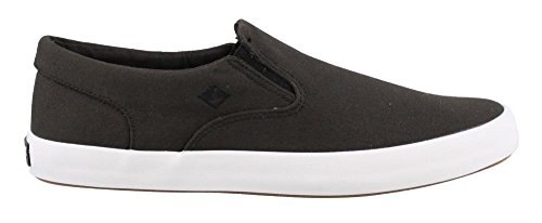 Sperry Top-Sider Men's Wahoo Slip On Boat Shoe, Black, 10 M US