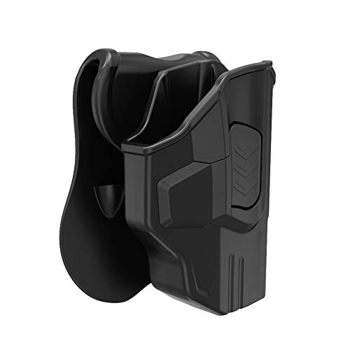 (Bedone S&W M&P Shield Holster, OWB Tactical Paddle Pistol Holster Fits Smith and Wesson MP Shield .40 9mm 3.1'')