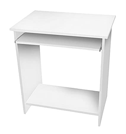 Lyndan - Astoria blanco mesa de ordenador escritorio compacto para ...