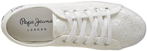 Pepe Jeans Women's Gery Anglaise Low-Top Sneakers White EPk6PvOuV