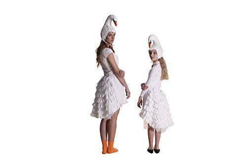 Swan costume for women, teenagers and girls ()