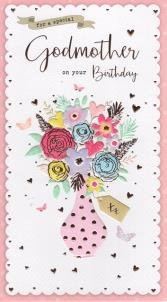 Godmother Birthday Card Amazoncouk Kitchen Home