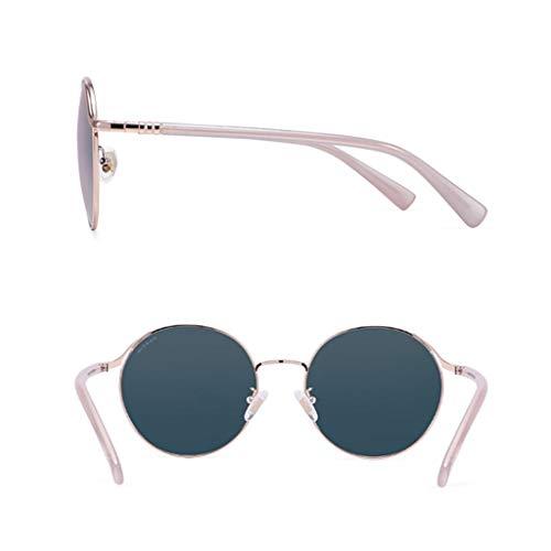 Sport de en polarisées Femme lunettes Nouveau Miroir métal à Des de de pour Ronde Soleil C soleil Femmes Conduite Lunettes Monture nIASwxq78