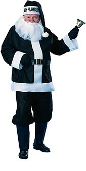 Rubie's Bah Humbug Santa Suit, Black/White, Standard Costume