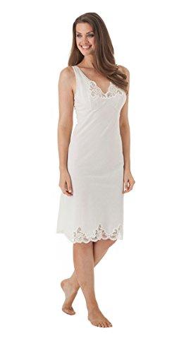 Velrose Lingerie Cotton Full Slips Style 4534 (42, Ivory) - Batiste Slip