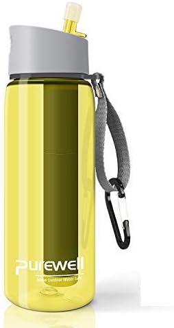 Ruby Lil Botella de agua filtrada portátil, purificador de agua de ...
