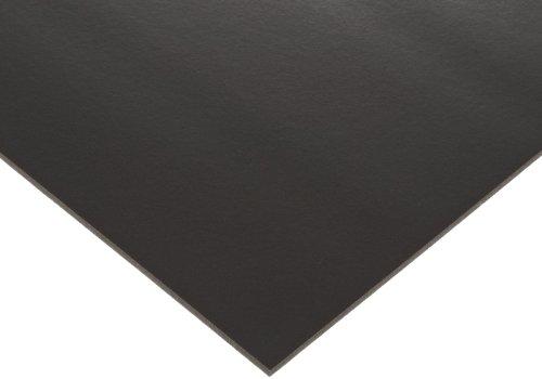 Poron Polyurethane Open-Cell Foam Sheet, Ultra Soft Firmness, No Backing, Black, 0.375