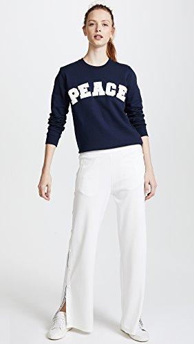 Tory Sport Women's Letterman Crew Sweater, Tory Navy, Medium by Tory Sport (Image #5)