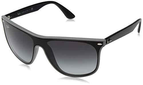 Ray-Ban RB4447N Blaze Square Sunglasses, Grey Demishiny/Grey Gradient, 40 mm (Ray-ban Sonnenbrille Männer)