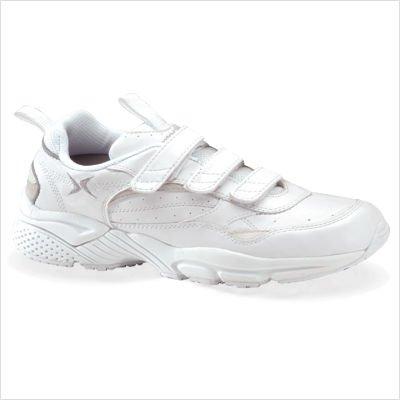 Apex Men's Velcro Strap Walker Walking Shoes - Size 13 W Black-Light Grey