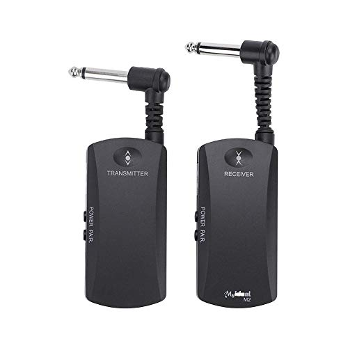 Rechargeable 2.4G Wireless Guitar System,Portable Audio Speaker Connector Receiver Transmitter Set