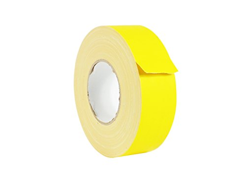 WOD CGT-80 Yellow Gaffer Tape Low Gloss Finish Film, Residue Free, Non Reflective Gaffer, Better than Duct Tape (Available in Multiple Sizes & Colors): 1/2 in. X 60 Yards (Pack of 1) ()
