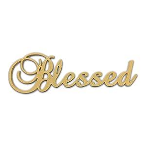 amazoncom 10quot blessed script cursive text word