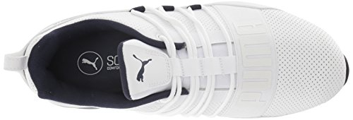 PUMA Men's Cell Regulate SL Sneaker, White Black-Peacoat Silver, 7 M US by PUMA (Image #7)