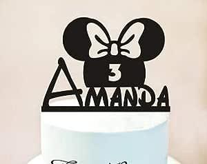 Decoración para tarta de Minnie Mouse, cumpleaños de Minnie ...