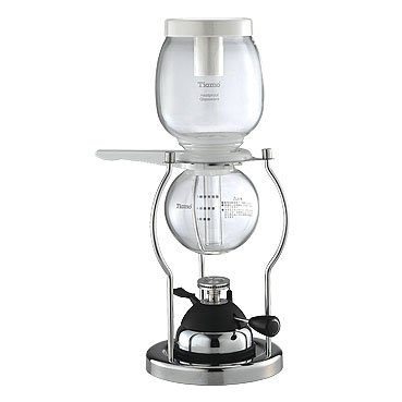 Cafe de Tiamo 5 Cup Siphon Coffee Maker with Butane Burner (HG2368) by Tiamo