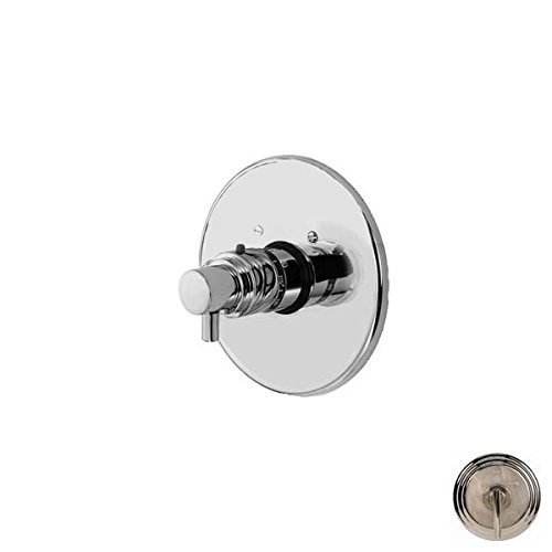 Newport Brass 3-1504TR East Linear Collection Single Handle Round Thermostatic V, Polished Nickel