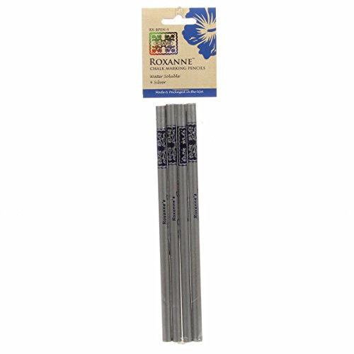 (Colonial Needle Roxanne RX-BPEN-S Quilters Choice Marking Pencils Silver 4Pc)